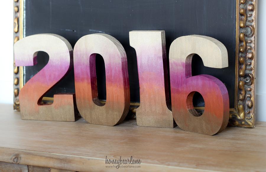 2016 metallic ombre numbers