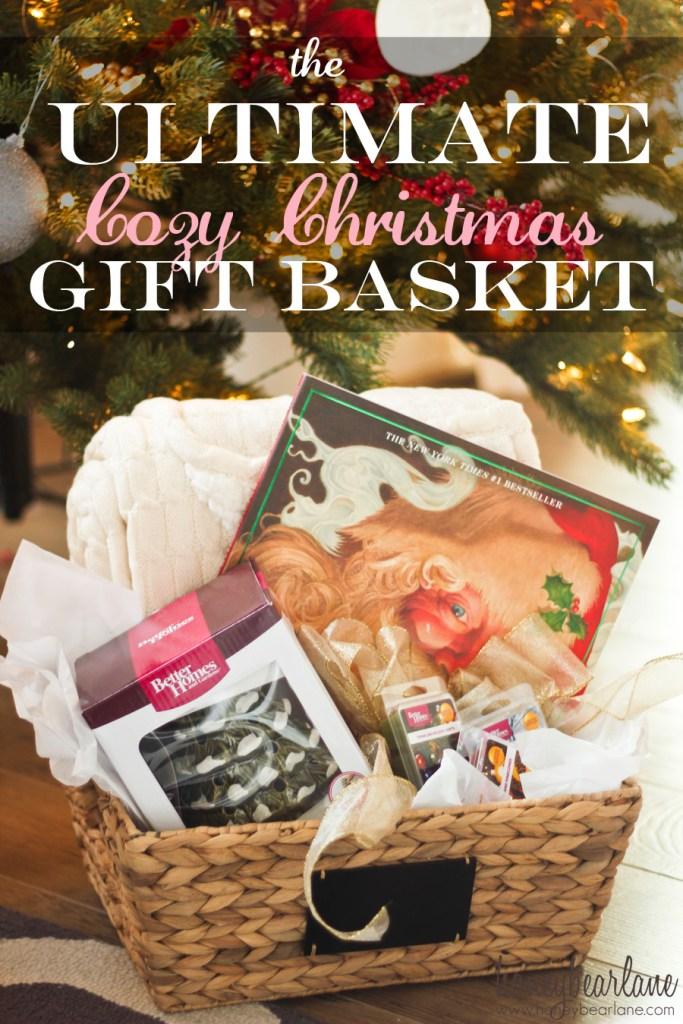 cozy christmas gift basket