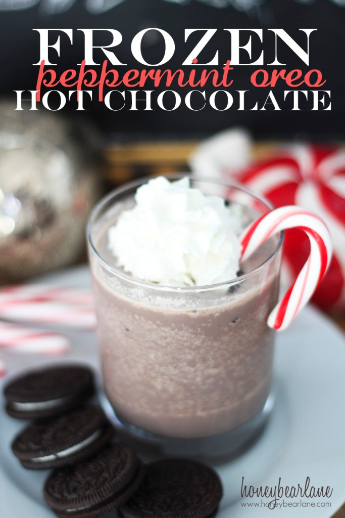 frozen peppermint oreo hot chocolate