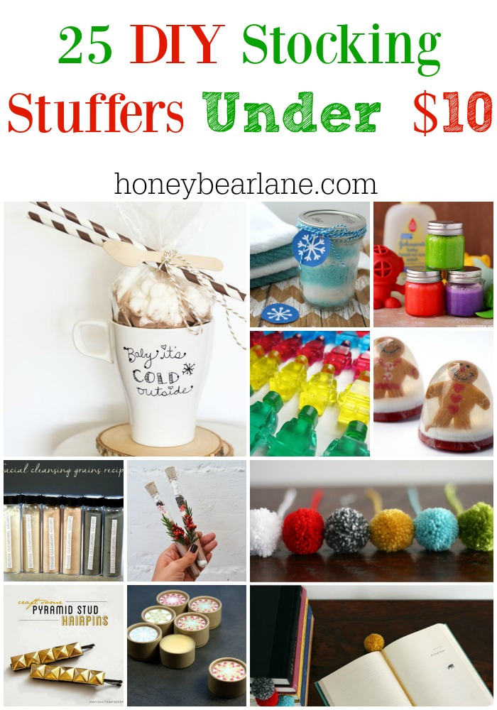 25 DIY Stocking Stuffers Under 10 HoneyBear Lane