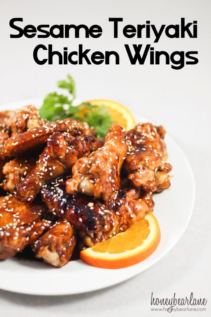 sesame teriyaki chicken wings