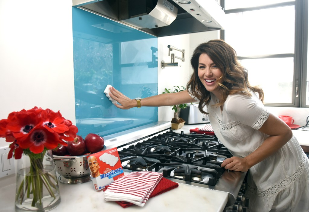 Mr. Clean Dirty Little Secrets video shoot with Jillian Harris, Wednesday, March 16, 2016, in New York. (Photo by Diane Bondareff/Invision for Mr. Clean/AP Images)