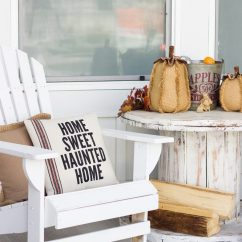 Images Of Chair Covers Swivel On Sale Farmhouse Halloween Front Porch Decor - Honeybear Lane