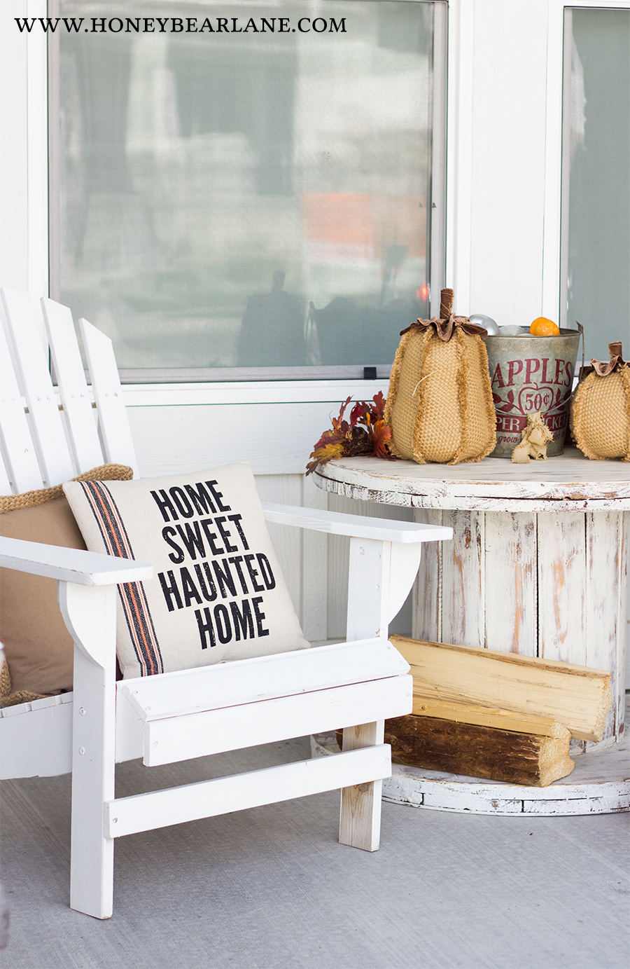 Farmhouse Halloween Front Porch Decor  Honeybear Lane