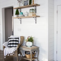 Kitchen Walls Sink At Lowes Tips For Creating A Shiplap Accent Wall - Honeybear Lane