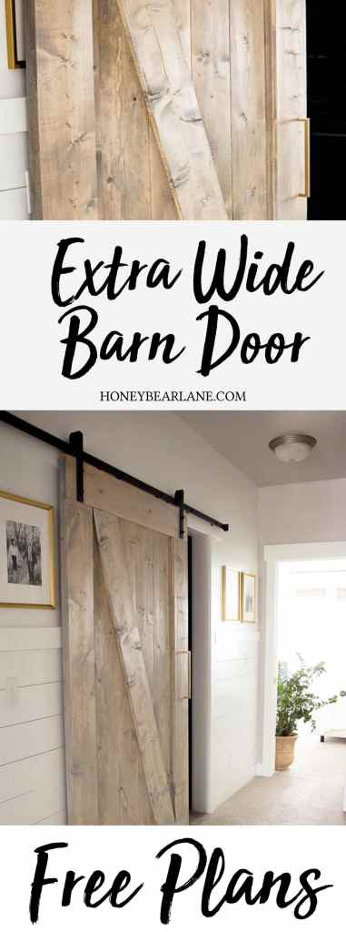 extra wide barn door