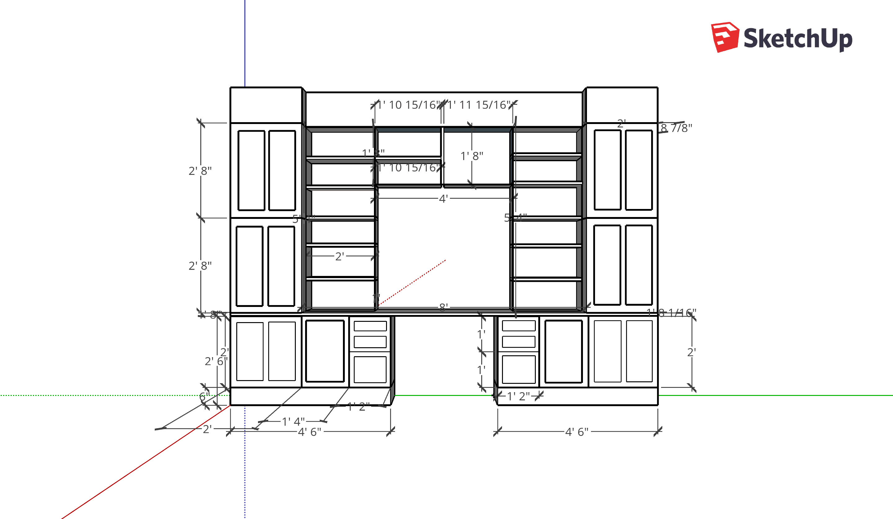 office built ins sketchup