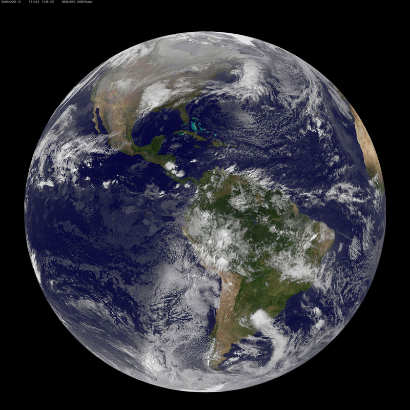 Bee season is here: A satellite photo of planet earth at winter solstice.