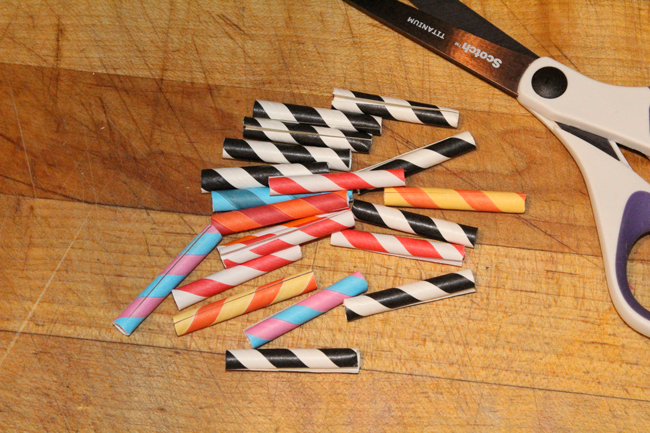 Cutting-the-straws-to-make-sleeves