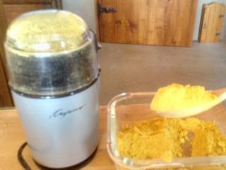 Pollen in coffee grinder