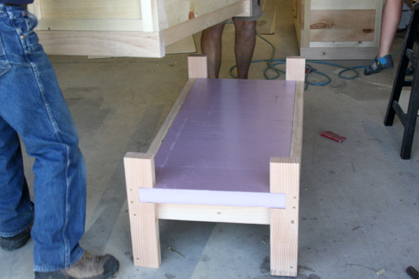 Insulated hive stand.
