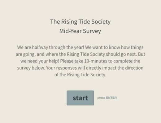 Mid Year 2016 Survey | via the Rising Tide Society