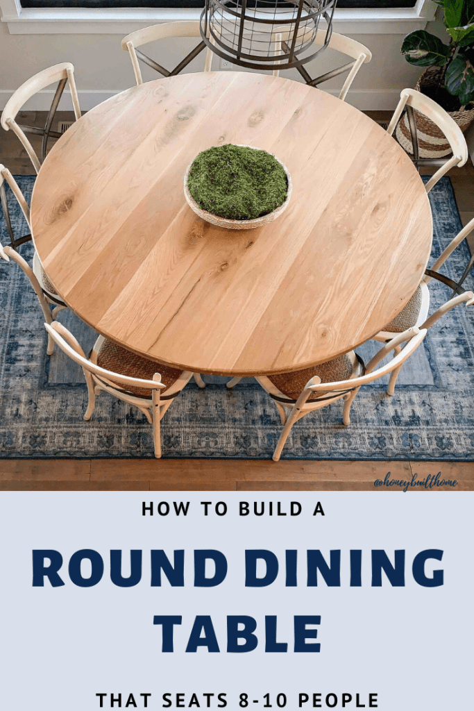 How To Build A 70 Round Dining Table Honey Built Home