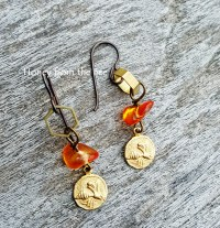 Honey Bee Earrings and How They Survive the Winter