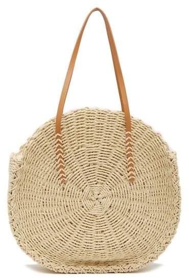 Melie Bianco Ciara Round Straw Bag