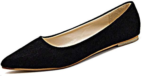 Romwe Pointed Toe Suede Flats