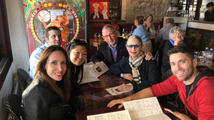 Lunch with the family in Paris