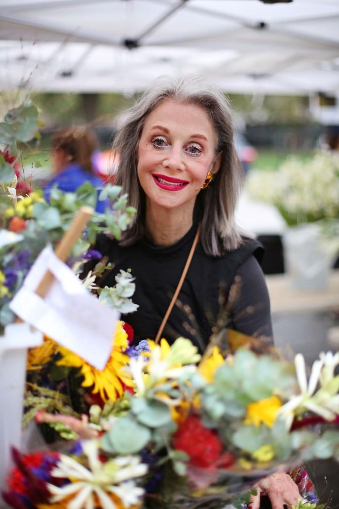 Positivity Through Flowers at the Farmer's Market