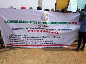 ASUP STRIKE: NAPS hold Peaceful Protest at Nnamdi Azikwe Airport, Abuja