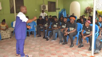 Photo of KALABARI COMMUNITY POLICE PAYS COURTESY CALL ON KUF LEADER, CALLS FOR SUPPORT