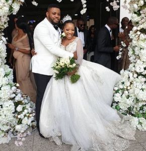 Sandra Ikeji Shuts Down Lagos With 200 Bridesmaid At Her Wedding (Photos+Videos)