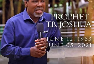 Photo of Prophet TB Joshua is not Dead, his Grace and anointing is available for all who believe -says Nigerian Billionaire Prophet Jeremiah Fufeyin Of MERCY TV