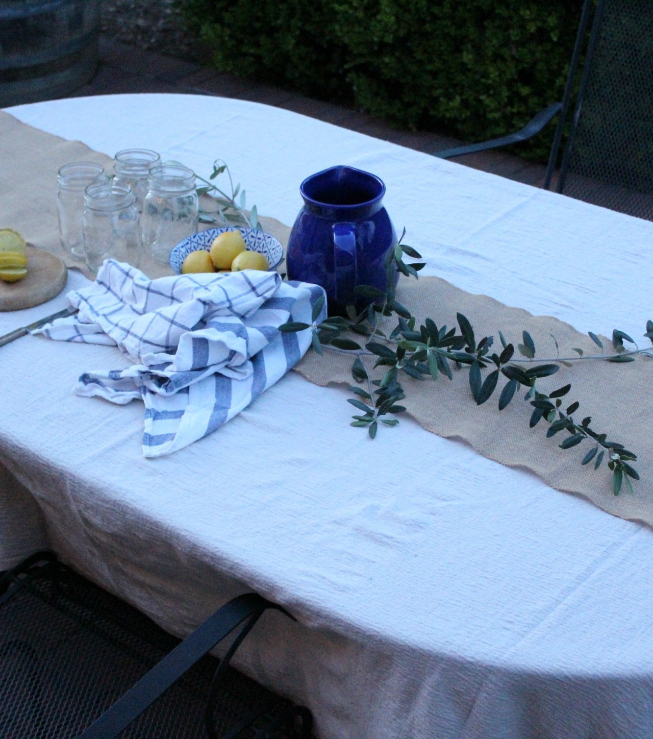 Dropcloth to Tablecloth