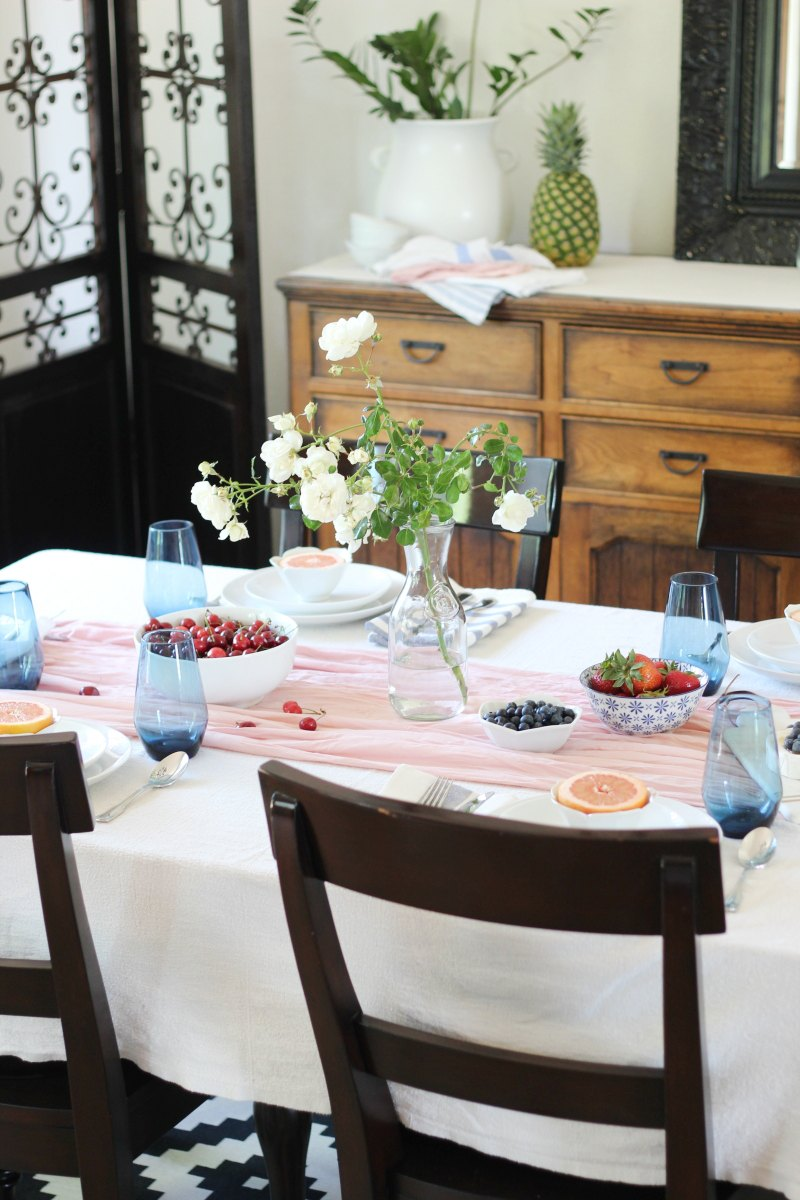 Simple Indigo and Pink Makes for a Beautiful Brunch