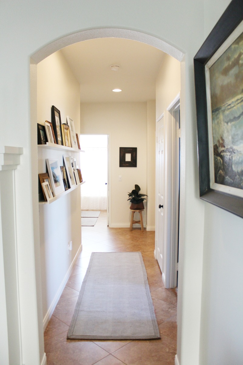 Light and Bright hallway makeover reveal