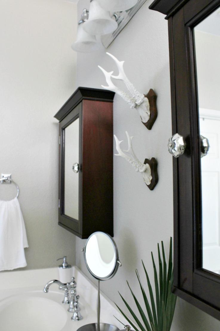 Builder\'s Grade Bathroom Makeover on a Budget - Honey N Hydrangea