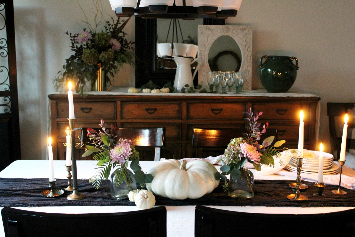 warm candle glow for fall