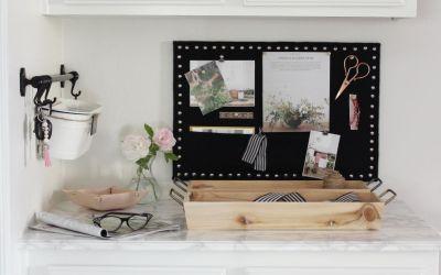Family Command Center and DIY Linen Memo Board