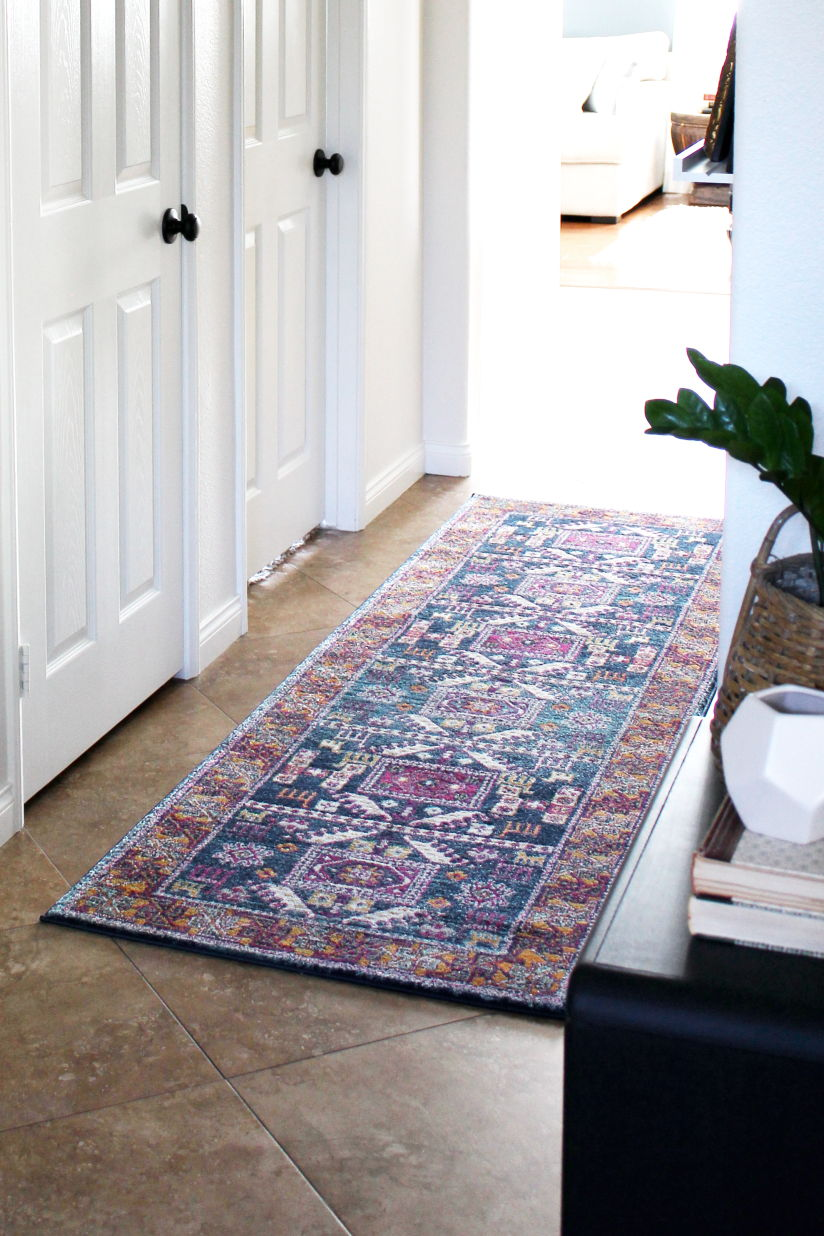 A New Vintage Inspired Tribal Hallway Runner
