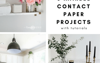 The Best DIY Marble Contact Paper Projects with Tutorials