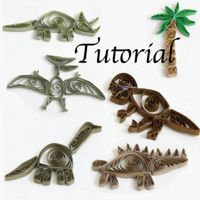 paper quilled dinosaur tutorial