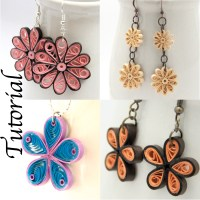 paper quilling tutorial flower earrings jewelry