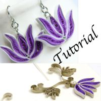 paper quilled lotus earrings and frame tutorial