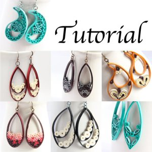 paper quilling tutorial jewelry teardrop earrings