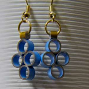 how to make paper quilling earrings sturdy