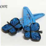How to Add Paper Quilling to Hair Clips