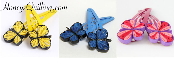 make your own paper quilled butterfly hair clips with this free tutorial