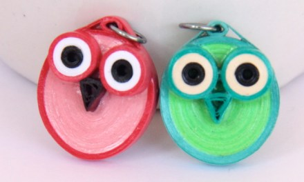 Paper Quilled Owl Jewelry