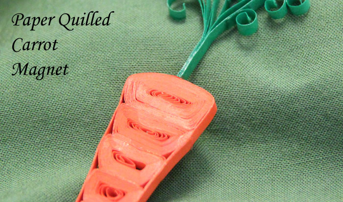 Paper Quilled Carrot Magnet