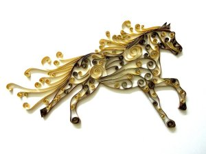 paper quilled horse