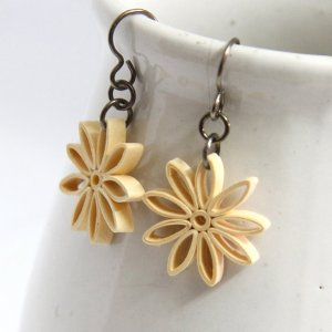 nine pointed star eco friendly earring