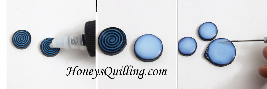 How to make a set of spiral earrings and pendant.  A free paper quilling tutorial from Honey's Quilling