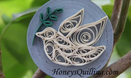 Paper Quilled Peace Dove Magnet