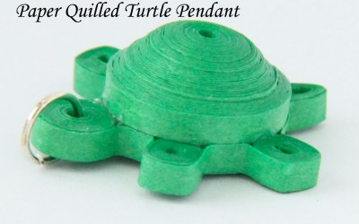 Paper Quilled Turtle Tutorial – 3D Quilling – Pendant or Magnet