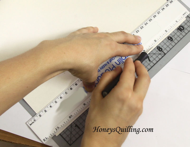 Tutorial for how to cut your own paper quilling strips - Honey's Quilling