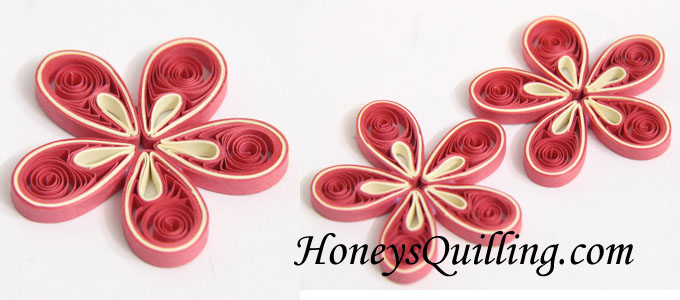 Tutorial for paper quilled malaysian flower honeys quilling to make the center of the flower glue together the 12 and 6 lengths and make a tight roll glue to the center there are many types of centers you could mightylinksfo Gallery